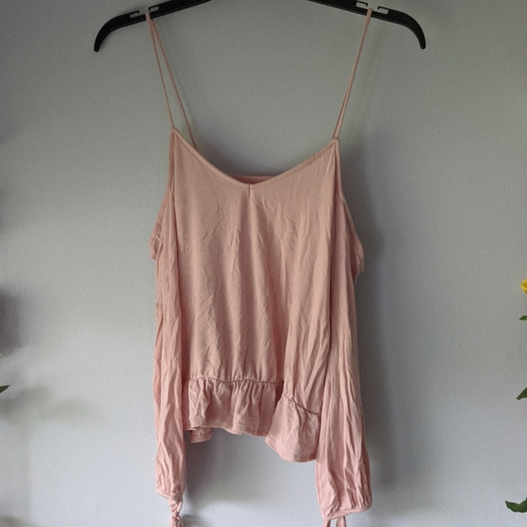 American Eagle Outfitters Tops - Soft & Sexy Pink Off The Shoulder Top